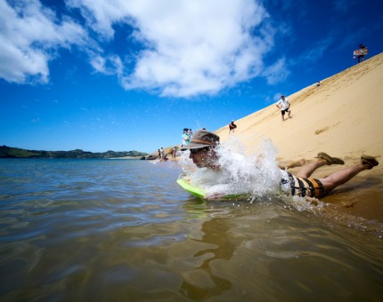 Fun on the Hokianga Sand Dunes<br />